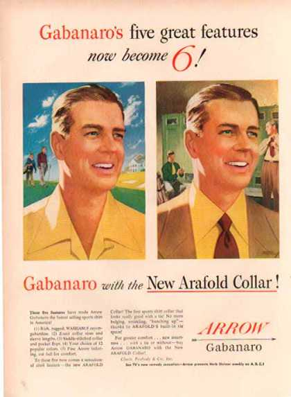 Arrow Shirts – Gabanaro with Arafold Collar (1952)