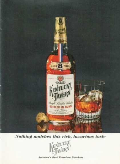 Kentucky Tavern Whisky Bottle (1961)