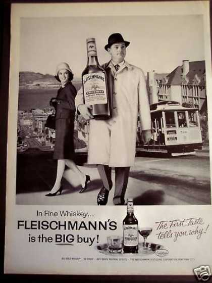 Man W/ Large Bottle of Fleischmann's Whiskey (1963)