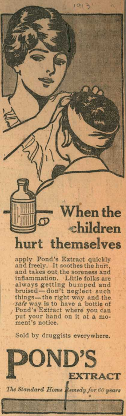 Pond's Extract Co.'s Pond's Extract – When the children hurt themselves (1913)