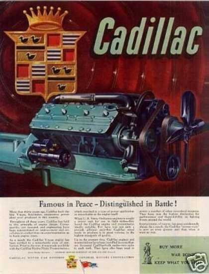 "Cadillac Ad ""Famous In Peace... (1945)"