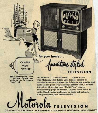 Motorola – for your home... furniture styled Television (1950)