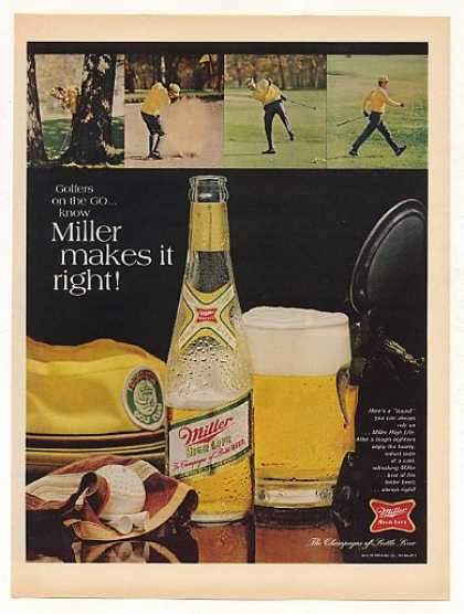 Golfer on the Go Miller Beer Makes It Right (1968)