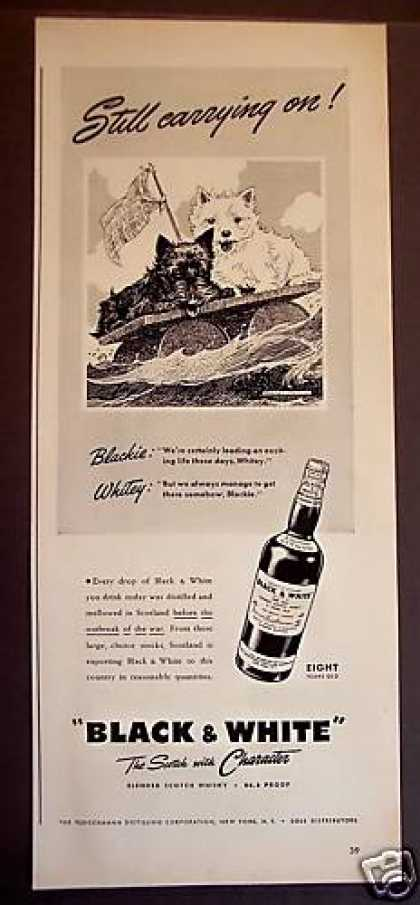 Black & White Scotch Whisky Dogs (1942)