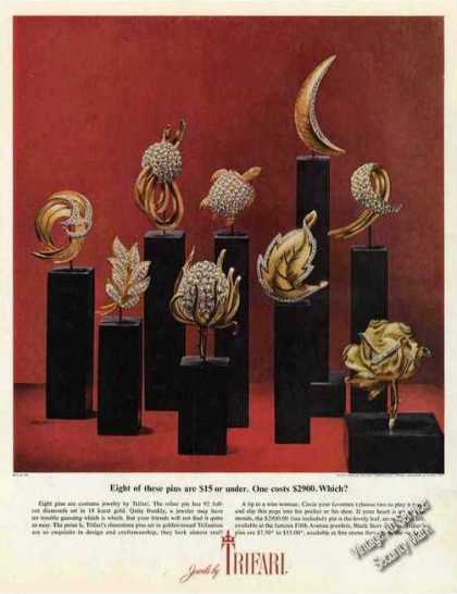 Trifari Jewels Eight @ $15 One @ $2900 Which? (1962)