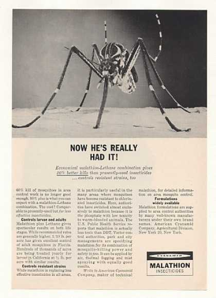 Cyanamid Malathion Lethane Mosquito Insecticide (1960)