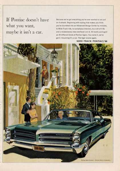 For the '66 Pontiac Bonneville Wide Track (1965)