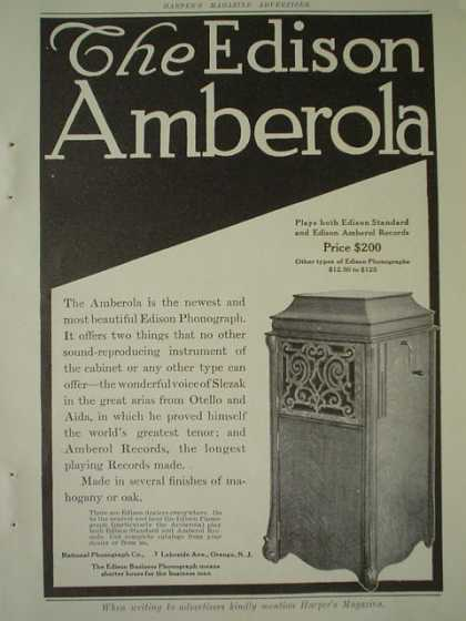 The Edison Amberola AND The Grand Rapids Furniture Co (1910)