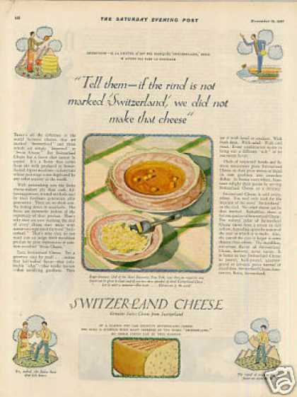 Switzerland Cheese Color (1927)