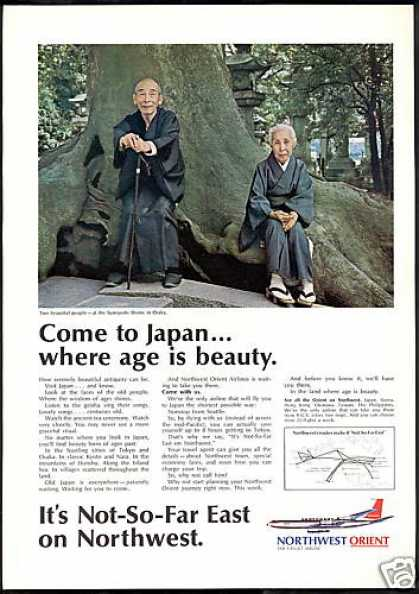 Northwest Airlines Sumiyoshi Shrine Osaka Japan (1968)