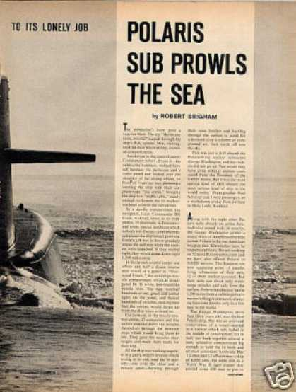 """Polaris Sub Prowls the Sea"" Article (1963)"