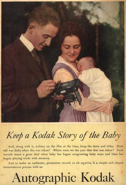 Kodak's Autographic cameras – Keep a Kodak Story of the Baby (1917)
