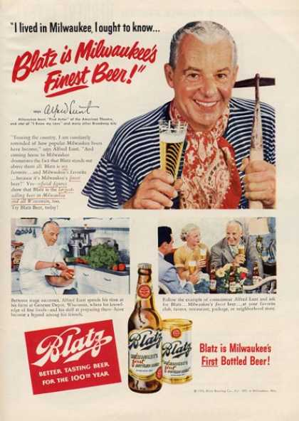 Blaztz Beer Bottle Alfred Lunt (1951)