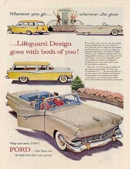 Ford Sunliner & Wagon Car (1956)