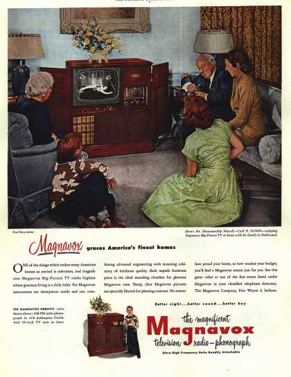 Magnavox Company's Radio Phonograph Television – Magnavox graces America's finest homes (1952)