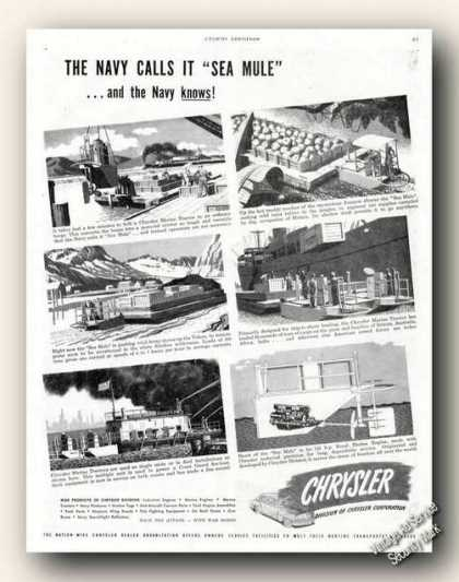 Chrysler Marine Tractor Navy Sea Mule Photos (1943)