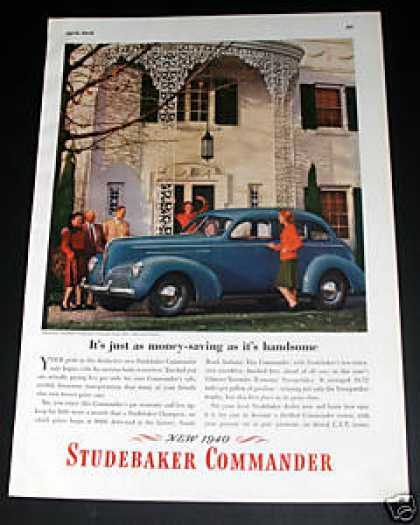 Studebaker Commander Automobile Ad, Exc (1940)
