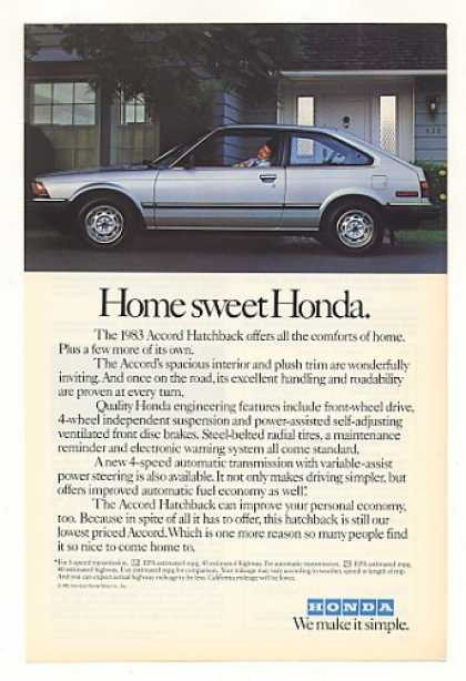 Honda Accord Hatchback Home Sweet Honda (1983)