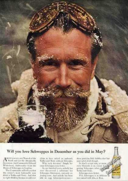 Will U Love Schweppes In December As In May? (1957)