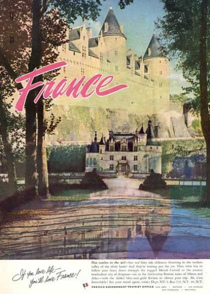 France Tourism Castle Great Color (1956)