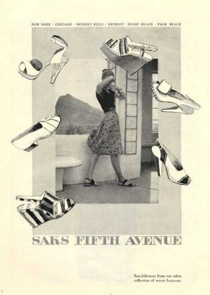 Saks Fifth Avenue Fashion Shoes Dress (1946)