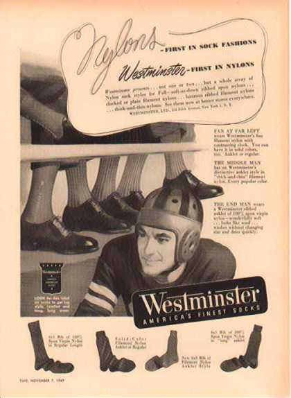 Westminster LTD – America's Finest Socks – Nylons (1949)
