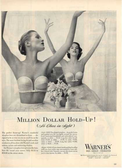 Warners Ballerina Ballet Dancer Bra Ad T (1952)