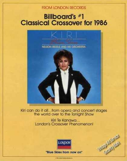 Kiri Te Kanawa Photo Classical Crossover Music (1986)