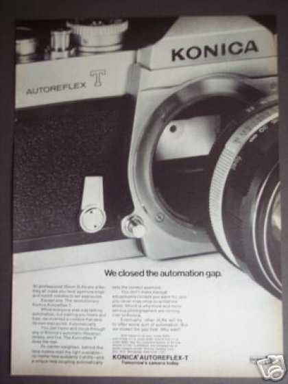 Konica Autoreflex T Slr 35mm Camera (1969)