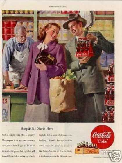 "Coca-cola Ad ""Hospitality Starts Here... (1948)"