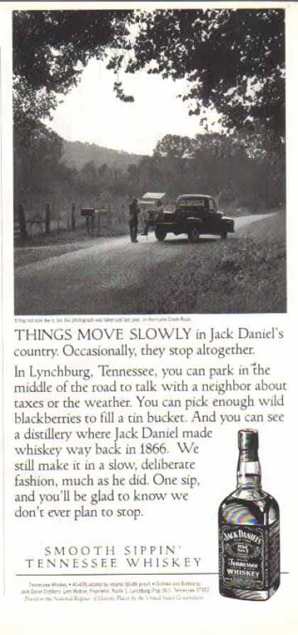 Jack Daniel's – Hurricane Creek Road, Tennessee (1993)