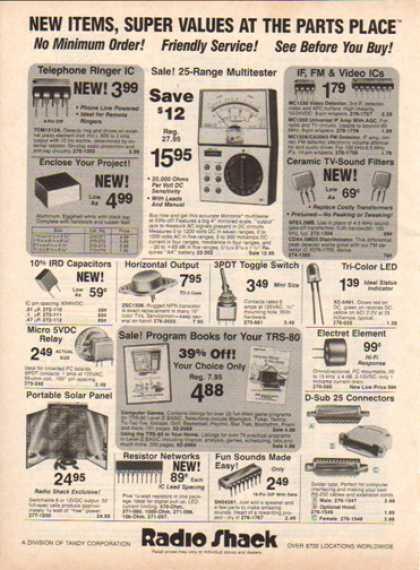 Radio Shack – New Items For (1983)
