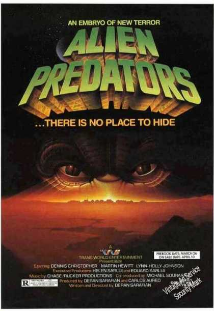Alien Predators Movie Promo (1987)