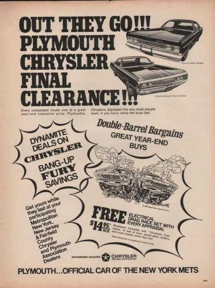 Plymouth Chrysler Clearance (1969)