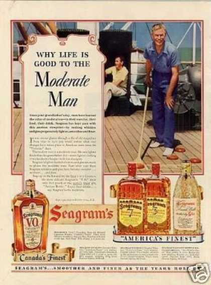 "Seagram's Whiskey Ad ""Why Life Is Good... (1939)"