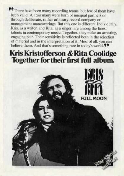 Kris Kristofferson & Rita Coolidge Album Promo (1973)