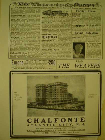Chalfonte Hotel Atlantic City New Jersey NJ The Leeds Co (1908)
