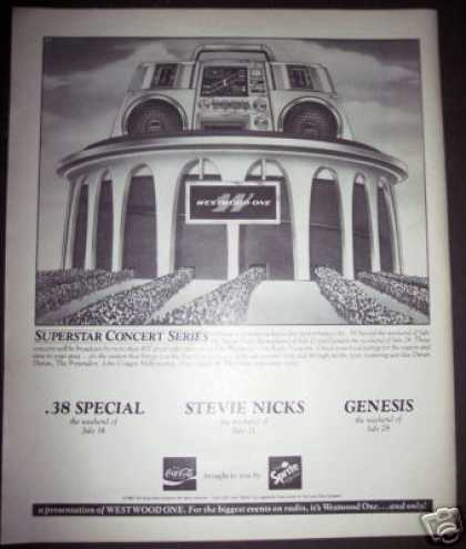 Westwood One Concert Promo Ad .38 Special Genesis (1984)
