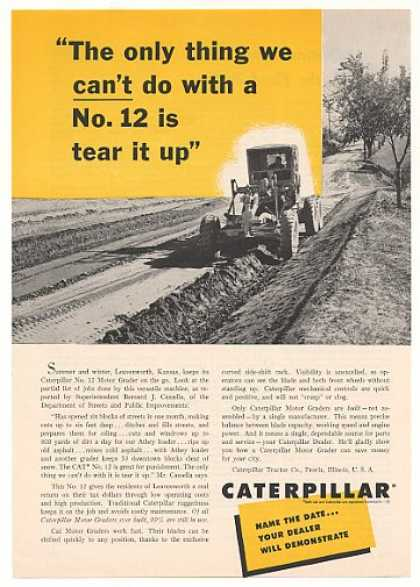 Caterpillar No 12 Motor Grader Leavenworth KS (1955)