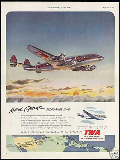 TWA Airlines Skyliner Airplane (1951)