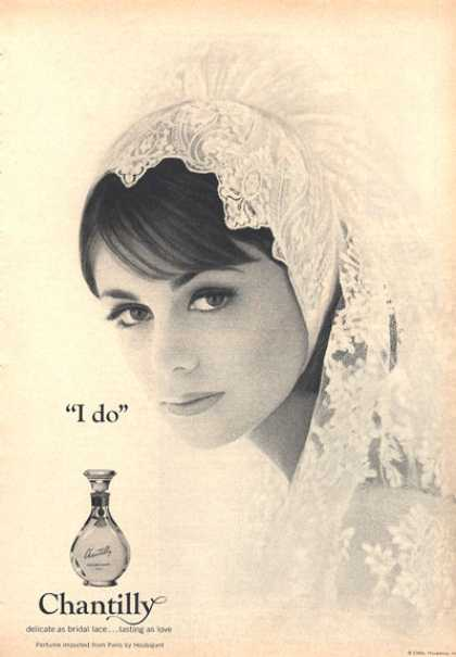 Chantilly Perfume Bottle Wedding Bride (1964)