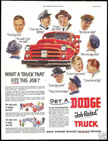 Dodge Truck Pickup Driver Quotes Vintage (1951)