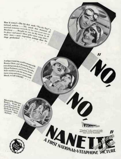 No, No, Nanette Move Promo (1930)
