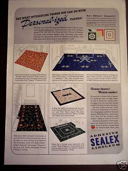 Sealex Linoleum Floors 30's Decor (1938)