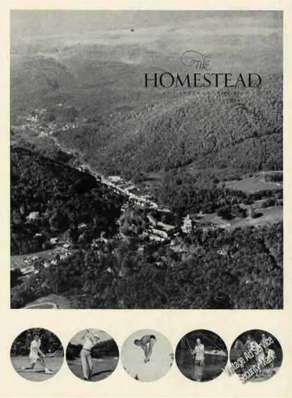 Aerial View the Homestead Hot Springs Va (1962)