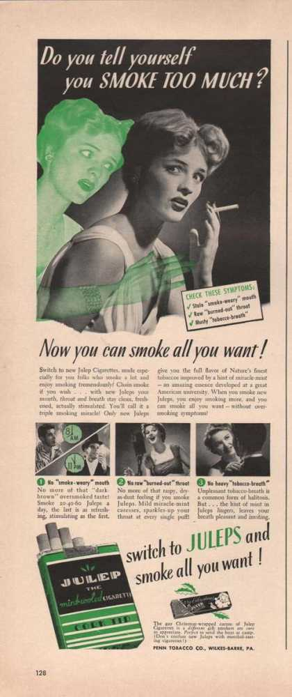 Julep Cigarettes Smike Too Much (1941)