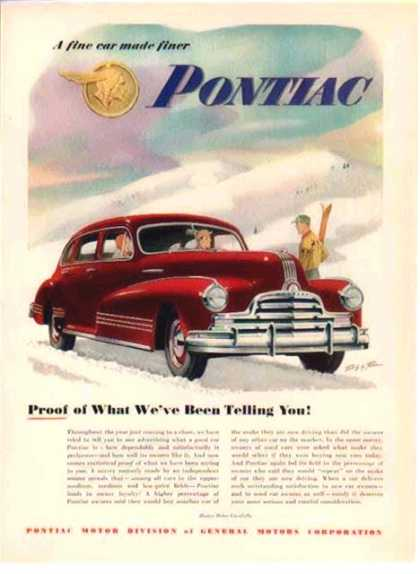 Pontiac Car – Red Sedan – Body by Fisher (1948)
