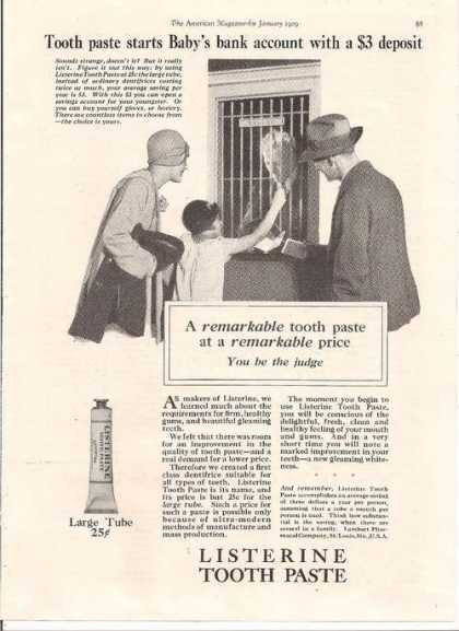 Listerine Tooth Paste (1929)