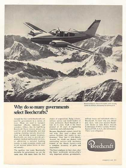 Beechcraft Baron Airplane Aircraft Photo (1968)