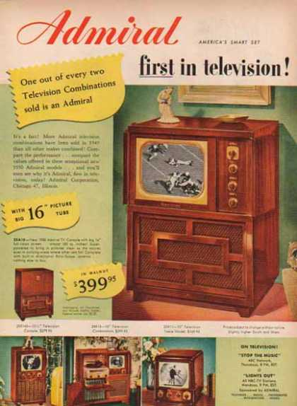 Admiral Television – Console Set – Sold (1949)